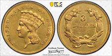 1857 Gold 3 Dollars, PCGS AU Details
