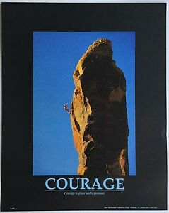 5x Posters Mountain climbing motivational Inspirational COURAGE Northwest Publ.