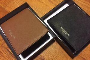 MK Michael Kors Men's Andy Leather Wallet Slim BIFOLD New $98