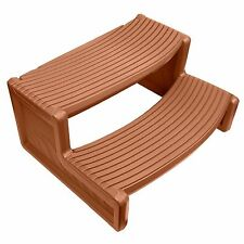 Confer Plastics HS2 Medium Redwood Resin Handi-Step For Spa and Hot Tubs
