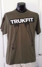 Trukfit Pin Up Lady Legs High Heel Shoes Logo Green T Shirt XL Retro Rare