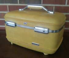 Vintage Mustard Yellow American Tourister Travel Makeup Case Luggage