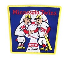 Minnesota Twins Square Shaking Hands Logo Embroidered Patch Yellow Border