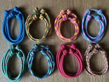 Paracord Whelping Collars ID Collars, Adjustable And Reusable Puppy/Kitten X 8
