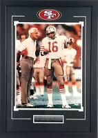 Joe Montana & Bill Walsh Autographed Framed San Francisco 49ers 16x20 Photo PSA