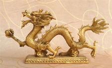 China antique brass hand made lucky dragon Ball Auspicious clouds statue