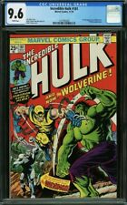 Incredible Hulk 181 CGC 9.6 1st Full Wolverine 1974🔥 1221995004 MCU White Pages
