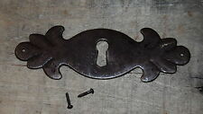 """FURNITURE Hardware Drawer Escutcheon Key hole cover Plate Antique rust  4 1/2"""""""