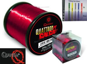 Quantum Quattron PT Salsa Klein & Großspule Monofielschnur / transparent rot