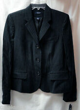 CHAPS Blazer Jacket Size 10 Black White Pinstripes Ladies NEW Misses Career