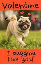 Funny I Pugging Love You Valentine's Day Greeting Card Humour Cards