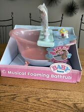 Baby Born Musical Foaming Bathtub Playset - New/Damaged Package - Ships Free!