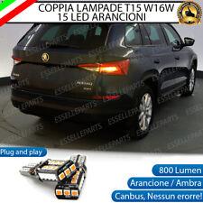 COPPIA LAMPADE W16W T15 CANBUS 15 LED FRECCE POSTERIORI SKODA KODIAQ NO ERRORE