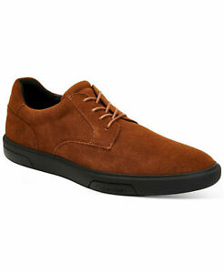 Calvin Klein Men Casual Lace Up Sneakers Gleyber Russet Silky Suede
