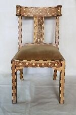 Indian Luxury Mango Wood Camel Bone Inlay Modern Furniture Chair