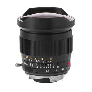 TTArtisans Fisheye11mm F2.8 Full Fame Lens Leica M Mount Camera Leica M240 M3 M6