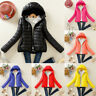 Winter Women's Slim Hooded Coat zipper Trench Jacket Parka Outwear Overcoat New