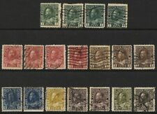 CANADA 1911- 1922 SG196 - 215 selection of shades Good Used  #M004