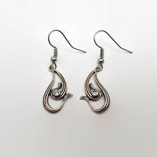 Silver Tone Ear Wires Sterling Silver Crystal Earrings With