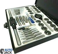 Autojack Metric Tap and Die Set 40 Pc Professional Split Dies Wrench Steel Case