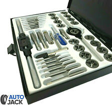 Autojack Metric Tap and Die Set 40 Pc Professional Split Dies Wrench Steel Case