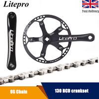 Litepro Folding MTB Road Bike Crankset 170mm Crank Set 130bcd Cycling Chain