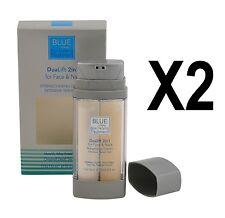 2XAUTHENTIC DEAD SEA BLUE DuaLift 2in1 Strengthening Cream & Serum Gel 0.5+0.5fl