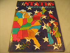 """50 STATES COLORING BOOK 1980 """"Never Used""""  [Y35]"""