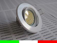 10x 60 LED FARETTO DA INCASSO 120° GU10 BIANCO CALDO 3,5w 220v LAMPADINE sup BIA