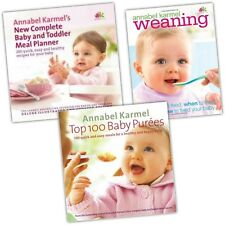 Annabel Karmel Collection 3 Baby Books Set Weaning