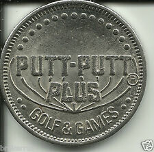 Vintage PUTT-PUTT plus golf and & games TOKEN silver COIN color arcade games