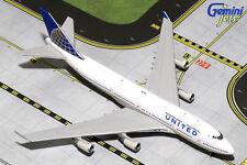 GEMINI JETS UNITED AIRLINES B747-400 1:400 DIE-CASTN105UA GJUAL1587