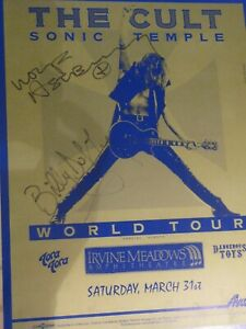 The Cult - Tourposter signed by I. Astbury+B.Duffy