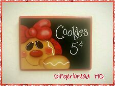 HP Hand Painted Wooden Kitchen Sign Gingerbread , plaque, made to order