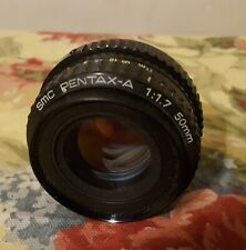 Pentax-A SMC 50mm K / PK Mount  F1.7 Prime Full Frame Manual Focus Lens EX+