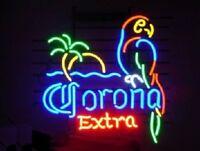 "New Corona Extra Parrot Bird Left Red Neon Sign Beer Bar Pub Gift Light 17""x14"""
