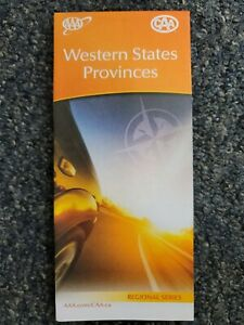 AAA Road Map of Western States Provinces