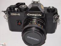 Chinon SLR Kamera CM-4 Objektiv 1,9/50 mm PK-Bajonett Ø 49m lens (Anleitung)