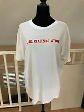 KYLIE JENNER T-SHIRT LIKE, REALIZING STUFF TEE  WOMENS/MENS SIZE XL
