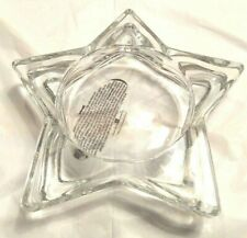 Clear Glass Star shaped Candle Holder with Homco label