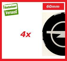 4x 60mm Passend für opel Aufkleber Raddeckel Felgen Radkappen Emblem OPEL