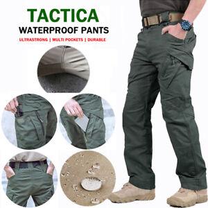 New Soldier Tactical Waterproof Pants Men Cargo Work Trousers Combat Outdoor