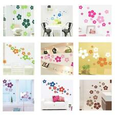 Removable Flowers Wall Stickers Floral Paper Bedroom Playroom Girls Decal Art