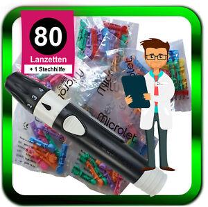 Stechhilfe Microlet next + Microlet Lanzetten steril ⭐️ 80Stk.⭐️ ►Händler◄