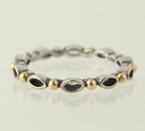 NEW Authentic Pandora Always & Forever Ring Silver 14k Gold 190873 6 52