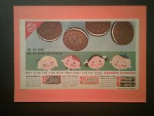 1957 National Biscuit Co OREO COOKIES Vintage Nabisco Devils Food Swiss Creme AD