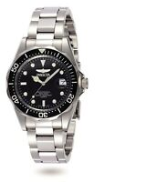 Invicta Men's Watch Pro Diver Black Dial Quartz Stainless Steel Bracelet 8932