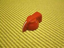 FLAT TOP CHICKEN HEAD KNOB, RED in Color,  SET SCREW BRASS INSERT, sold each