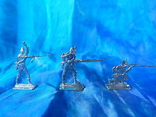 Plats d'étain - flat tin - zinnfiguren : 3 soldats infanterie - France 1870