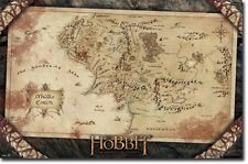 ACTION MOVIE POSTER The Hobbit Movie Poster Map